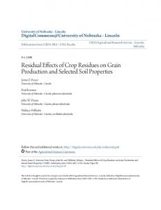 Residual Effects of Crop Residues on Grain