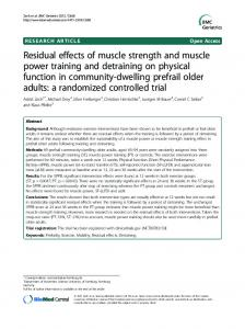 Residual effects of muscle strength and muscle power training and ...