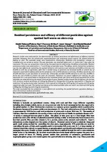 Residual persistence and efficacy of different pesticides against ...
