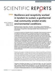 Resilience and receptivity worked in tandem to sustain a ... - Nature