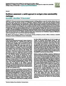 Resilience assessment: a useful approach to ... - Ecology and Society