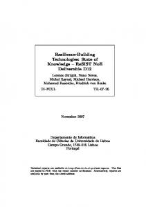 Resilience-Building Technologies: State of