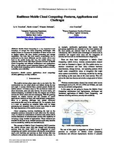 Resilience Mobile Cloud Computing: Features ... - IEEE Xplore