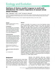 Resilience of Zostera muelleri seagrass to ... - Wiley Online Library