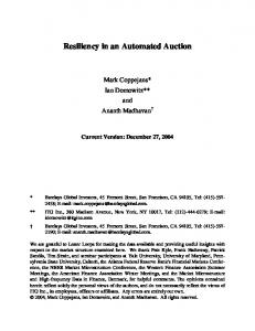 Resiliency in an Automated Auction - CiteSeerX