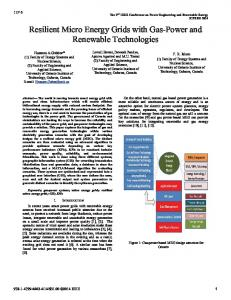 Resilient Micro Energy Grids with Gas-Power and ... - IEEE Xplore