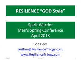 RESILIENT WARRIORS! - The Resilience Trilogy