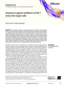Resistance against inhibitors of HIV-1 entry into ... - Future Medicine