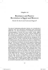 Resistance and Passive Revolution in Egypt and Morocco - Biblio UGent