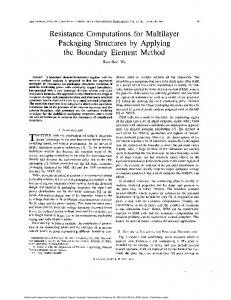 Resistance computations for multilayer packaging structures by ...