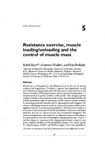 Resistance exercise, muscle loading/unloading and the ... - CiteSeerX