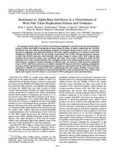 Resistance to Alpha/Beta Interferon Is a ... - Journal of Virology
