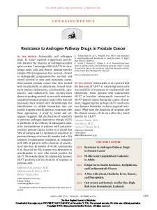 Resistance to Androgen-Pathway Drugs in Prostate ...
