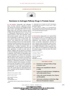Resistance to Androgen-Pathway Drugs in Prostate