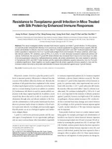 Resistance to Toxoplasma gondii Infection in Mice