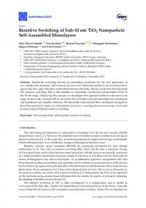 Resistive Switching of Sub-10 nm TiO2 Nanoparticle Self ... - Core