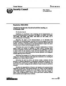 Resolution 1960 - Security Council Report