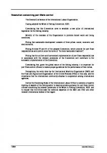 Resolution concerning port State control - International Labour ...