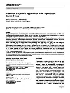 Resolution of Systemic Hypertension after Laparoscopic Gastric ... - Core