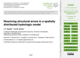Resolving structural model errors