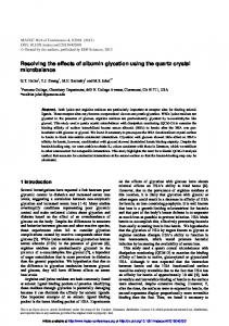 Resolving the effects of albumin glycation using the ...