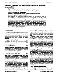 Resolving vibrational and structural contributions to isothermal ...