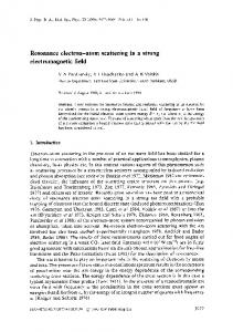 Resonance electron-atom scattering in a strong ...