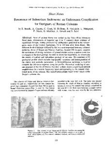 Resonance of Subsurface Sediments - Bulletin of the Seismological ...