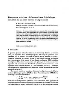 Resonance solutions of the nonlinear Schr\