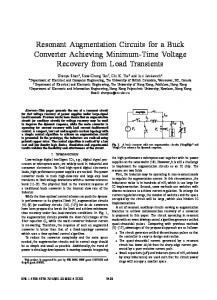 Resonant Augmentation Circuits for a Buck Converter ... - IEEE Xplore