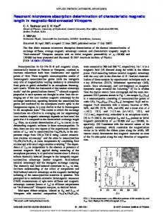 Resonant microwave absorption determination of