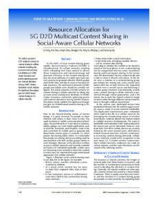 Resource Allocation for 5G D2D Multicast Content ... - IEEE Xplore