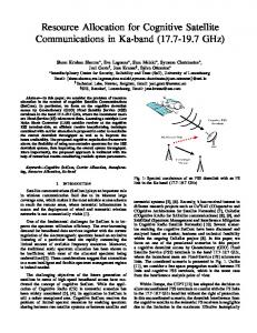 Resource Allocation for Cognitive Satellite Communications ... - ORBi lu