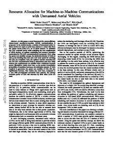 Resource Allocation for Machine-to-Machine Communications with ...