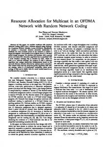 Resource Allocation for Multicast in an OFDMA Network with Random