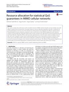 Resource Allocation for Statistical QoS Guarantees