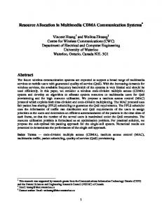 Resource Allocation in Multimedia CDMA ... - Semantic Scholar