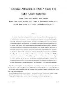Resource Allocation in NOMA based Fog Radio Access Networks