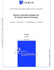 Resource Allocation Strategies for In-Network Stream Processing - arXiv