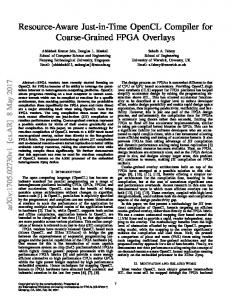 Resource-Aware Just-in-Time OpenCL Compiler for Coarse ... - arXiv