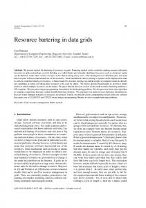 Resource bartering in data grids - Hindawi
