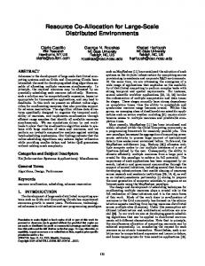 Resource Co-Allocation for Large-Scale ... - George N. Rouskas