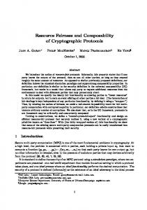 Resource Fairness and Composability of Cryptographic Protocols