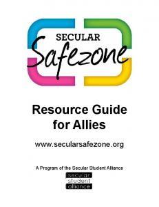 Resource Guide for Allies - Secular Safe Zone