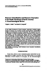 Resource Intensification and Resource Depression in ... - Springer Link