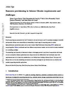 Resource provisioning in Science Clouds: Requirements and ...