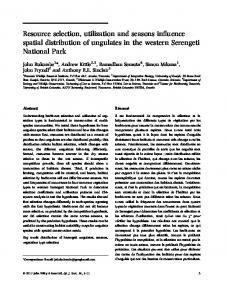Resource selection, utilization and seasons influence spatial ...