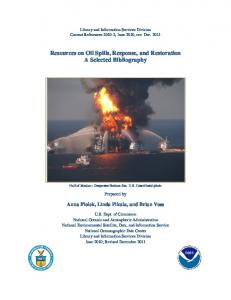 Resources on Oil Spills, Response, and Restoration