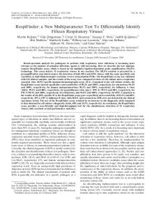 RespiFinder - Journal of Clinical Microbiology - American Society for ...