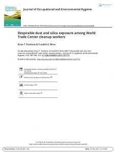 Respirable dust and silica exposure among World Trade Center ...